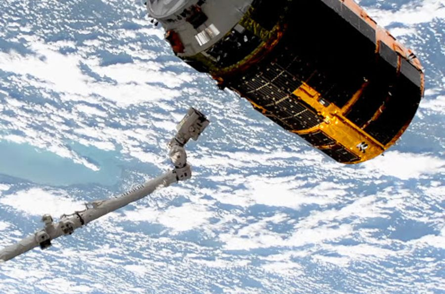 The Japanese HTV-9 Spacecraft Delivers Final Payload to the ISS